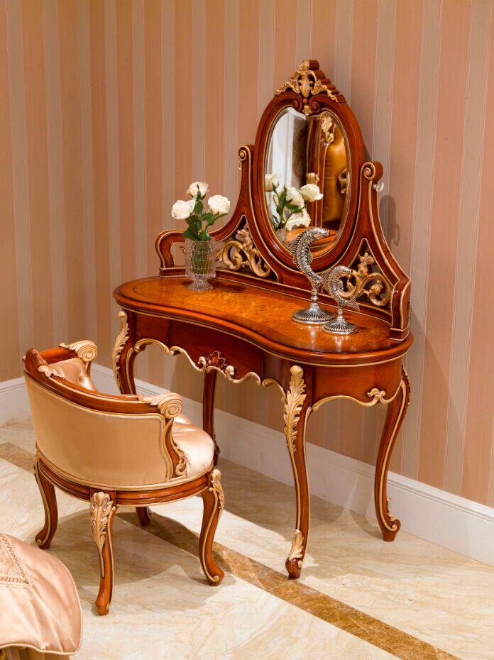 万兴欧式家具宫系列6602妆台妆镜妆凳
